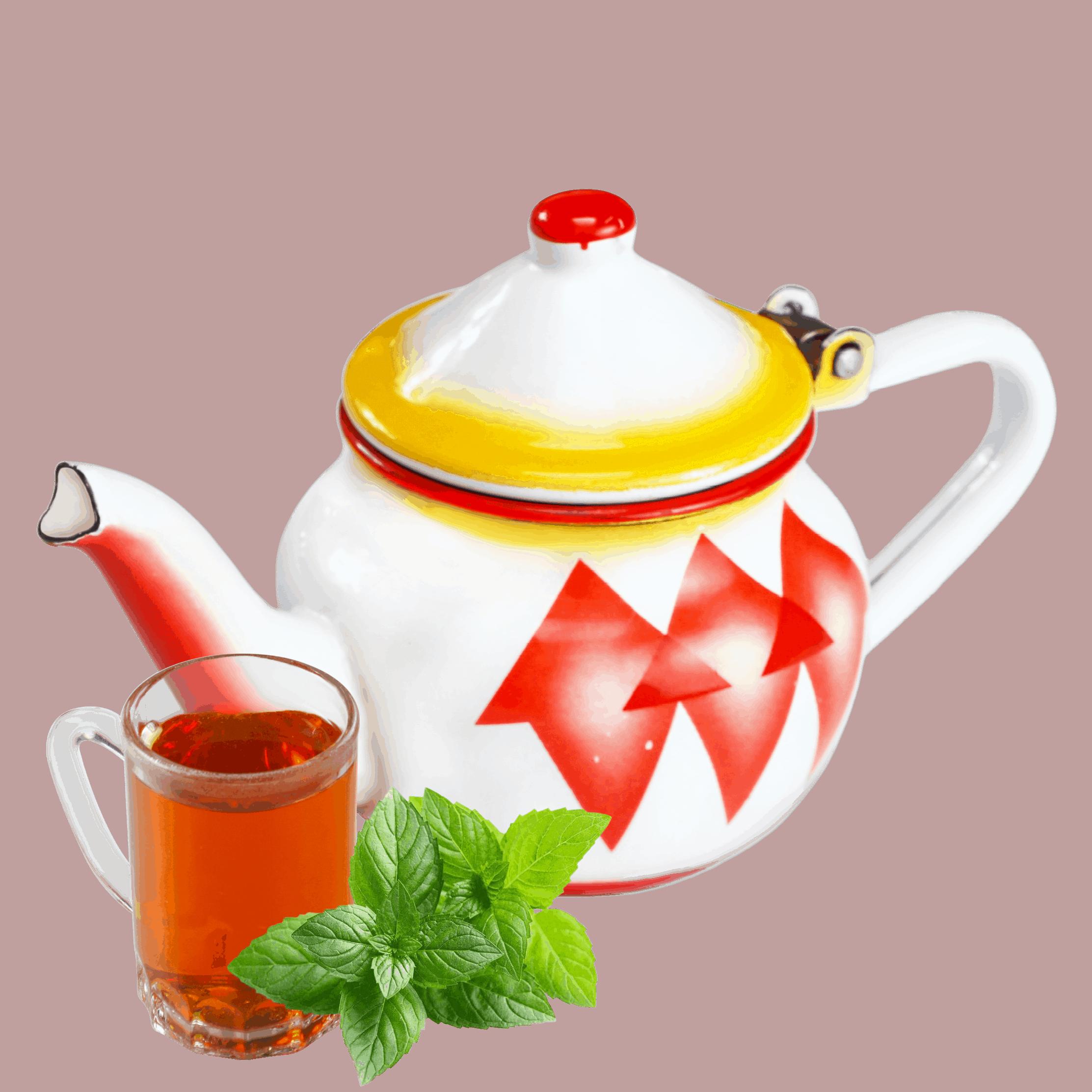 شاي احمر بالنعناع